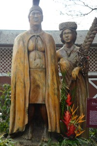 Statue at Macadamia Farm